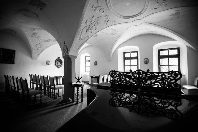 Schlosssaal mit Gewölbedecke